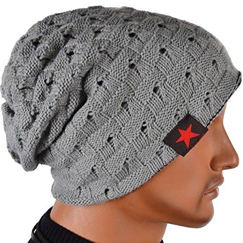 db963c52474 Thenice Men s Winter Skull Cap Knit Hat Light Grey. Return to Previous  Page. lightbox